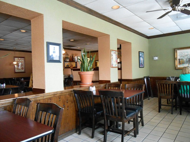Inside Yanni's. A great place to dine.