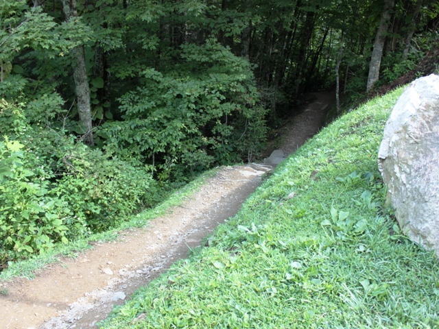 Hike to the overlook is steep.