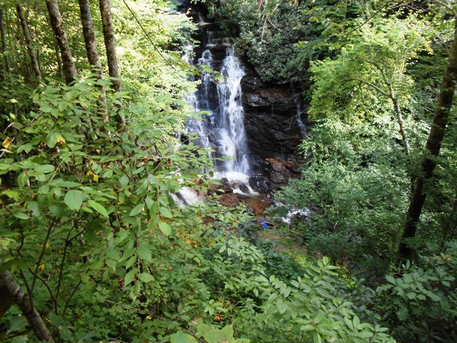 Another view of Soco Falls.