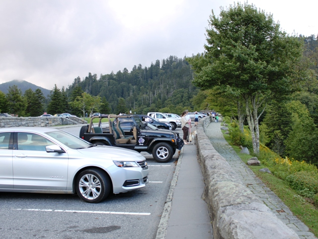 Newfound Gap parking lot.