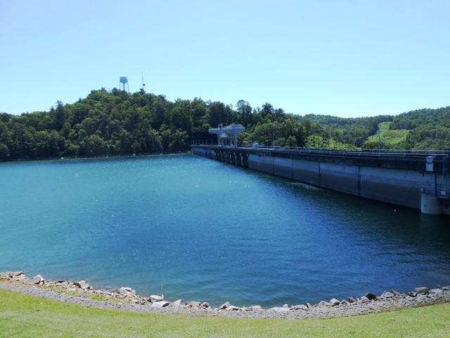 View of other side of dam.