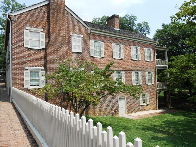 Andrew Johnson homestead as you enter downtown Greeneville.