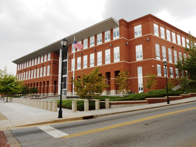 The newer courthouse.