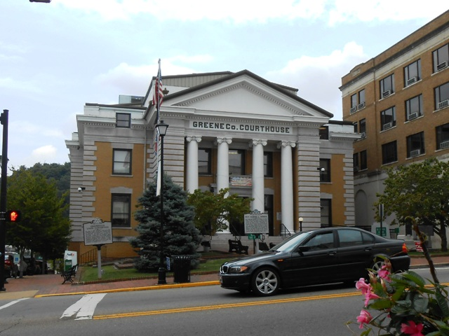 The Greene County Courthouse.