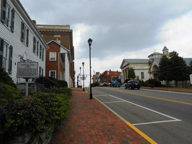 Many historic buildings in Greeneville, TN.