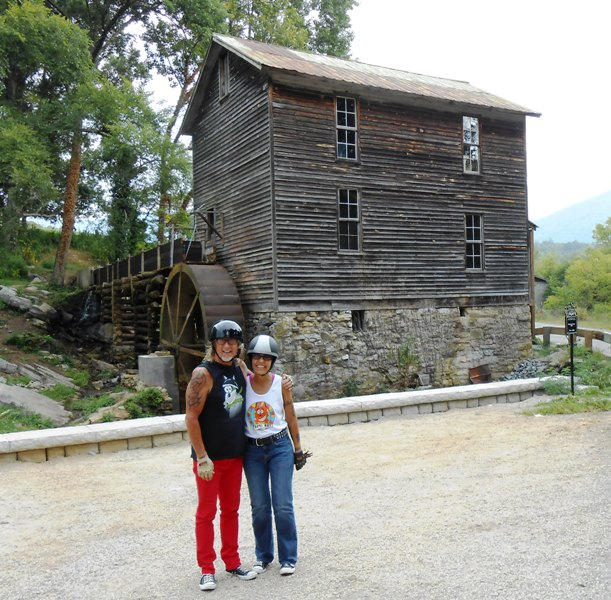 That's us standing in front of the Blowing Cave Mill.