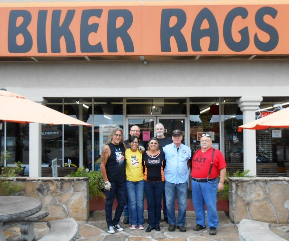 The ride began at Biker Rags.