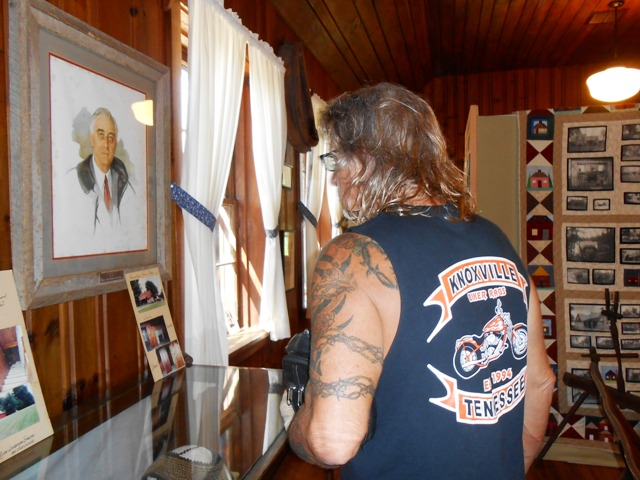 Jeff looking at the museum displays.