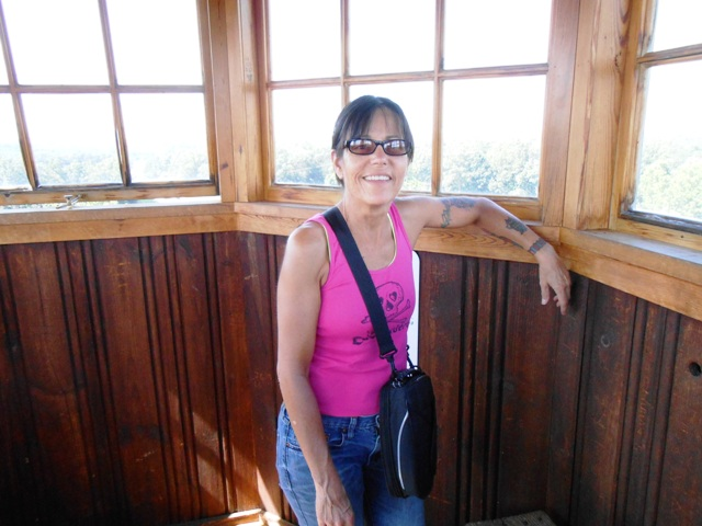 In the top of the tower.