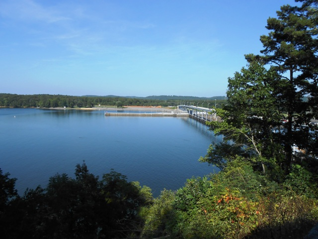 View of Watts Bar Dam.