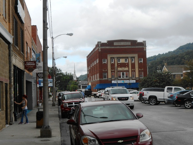Downtown Pineville. A quaint town.
