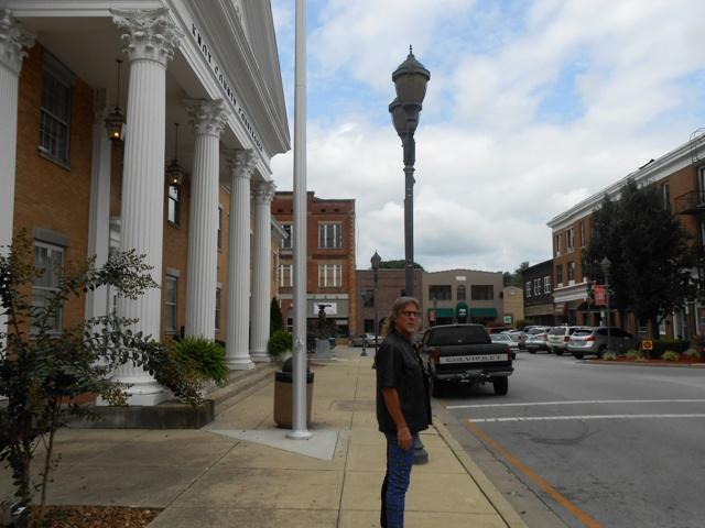 Barbourville has a quaint town square.