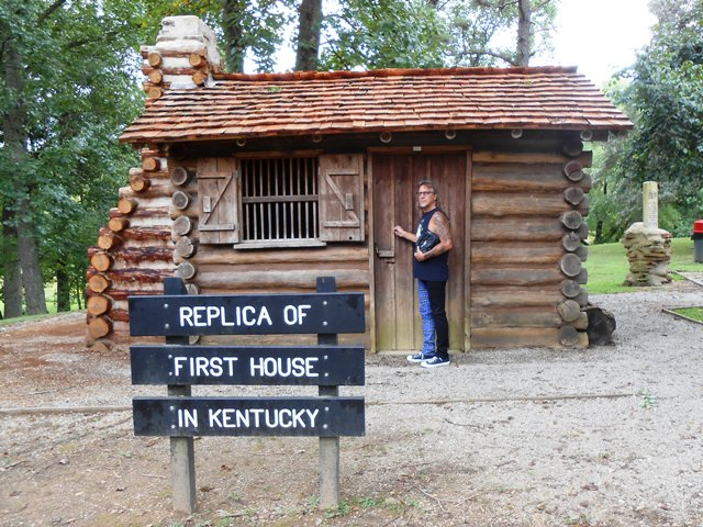 Replica of the first house in Kentucky built by Dr. Thomas Walker.