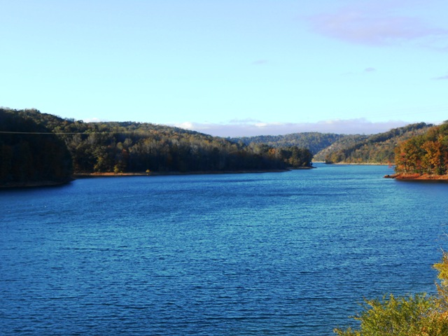 View of Norris Lake from the bridge.