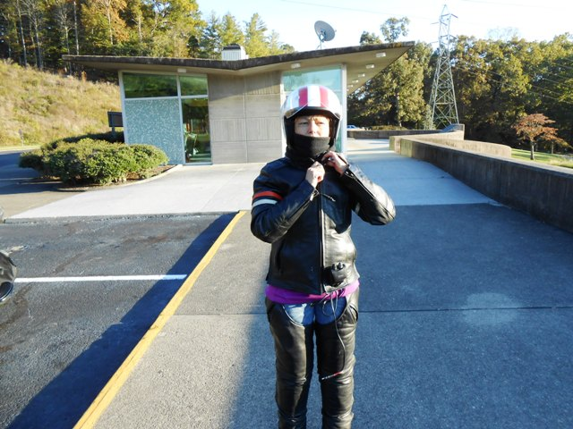 We are still wearing full leathers at the end of the day.