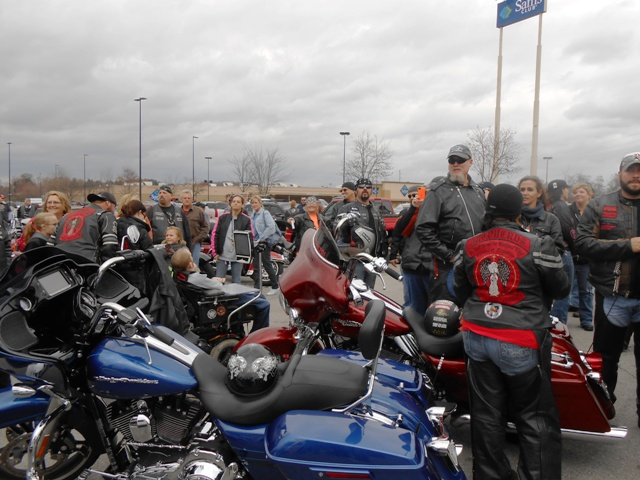 Many bikers here this afternoon.