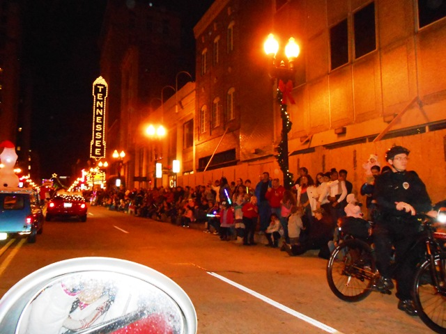 Here we are traveling down Gay Street. The crowd was large!