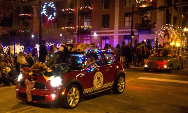 Biker Rags MINI in the 2014 Knoxville Christmas Parade.