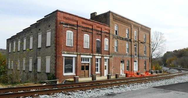 Old hotel in Bulls Gap. Currently not in use.