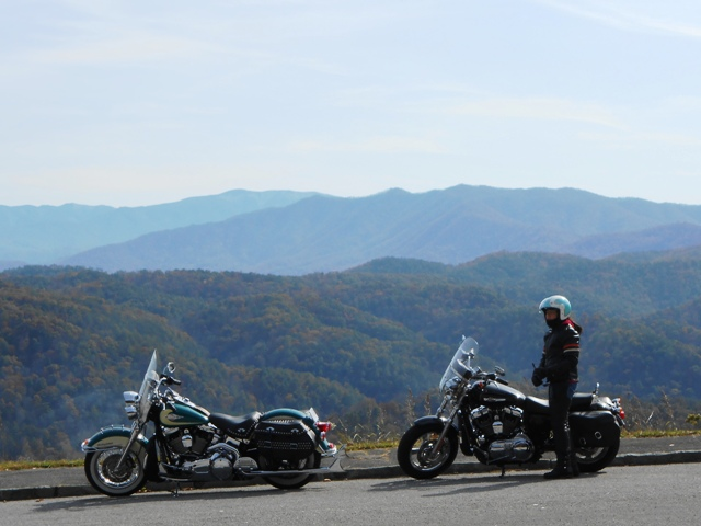Pamo and bikes on the Foothills Parkway.