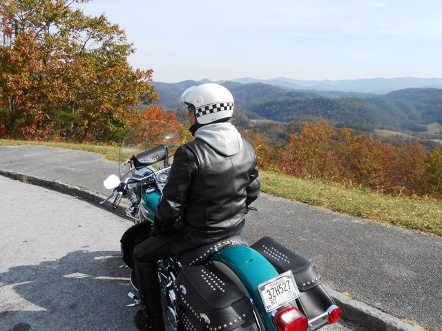Jeff on the Foothills Parkway.