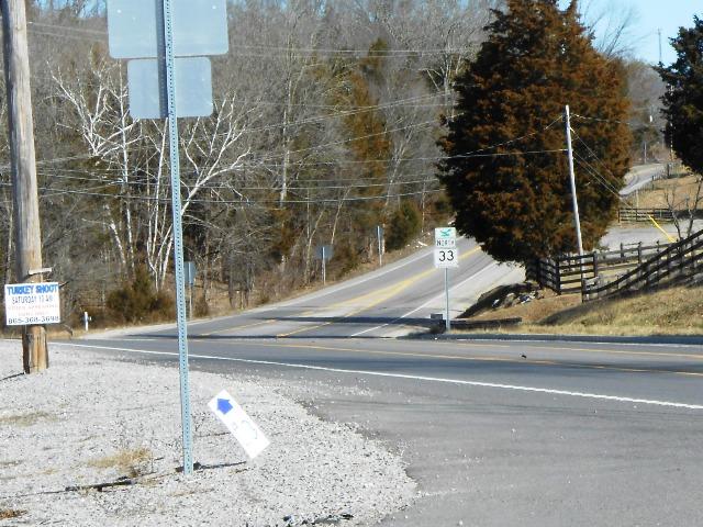 33 heading toward Maynardville.