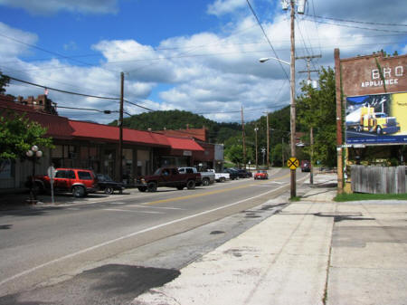 View of downtown Oliver Springs.