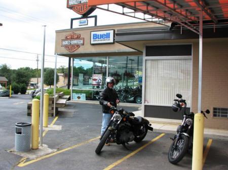 Jeff at the Harley shop.
