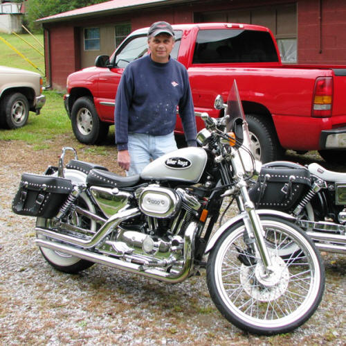 David painted this Sportster for us too.