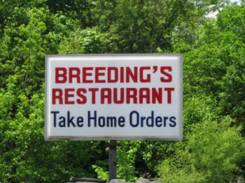 Breeding's Restaurant in Blaine, TN.