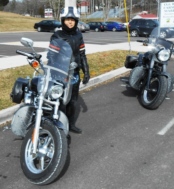 And this is how us and our bikes looked by the time we got to Oak Ridge.