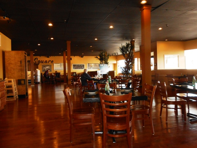 Dean's has a nice spacious dining room.