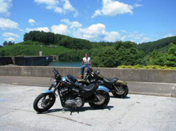 Taking a break at Norris Dam.