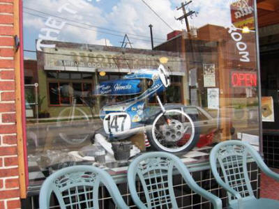The Time Warp Tea Room has lots of cool stuff to look at- a nice place to end the ride.
