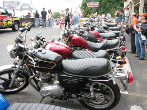 The crowd really seemed to enjoy seeing all the vintage iron.
