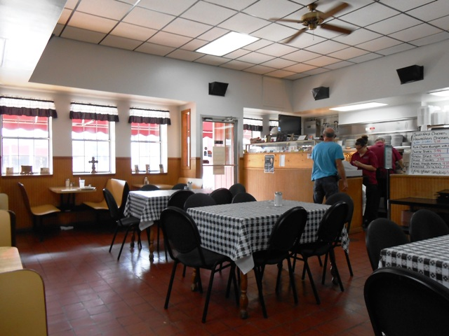 Inside Oh Henry's. Spotless and inviting.