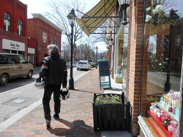 Walking in downtown Rogersville.