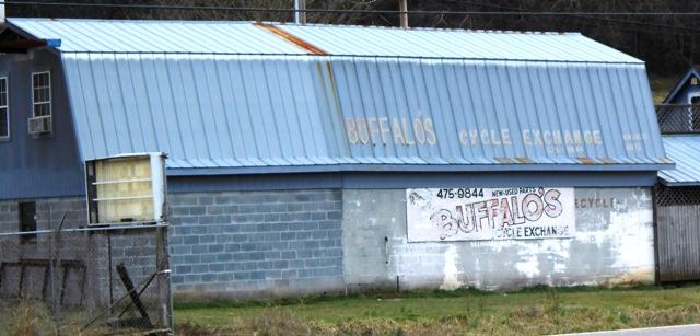 We stopped along 11E to take a photo of Buffalo's Cycle Exchange.