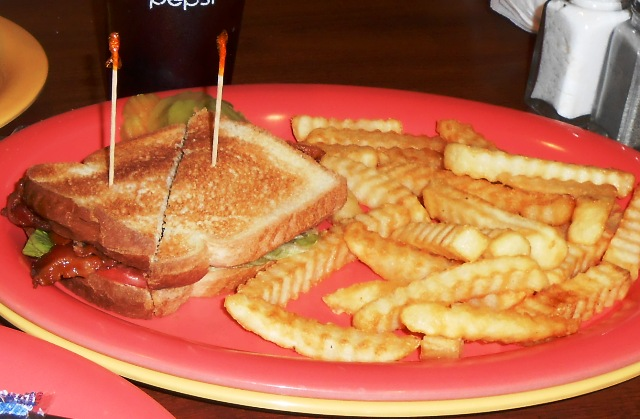 and split a BLT with fries. YUMMY!!