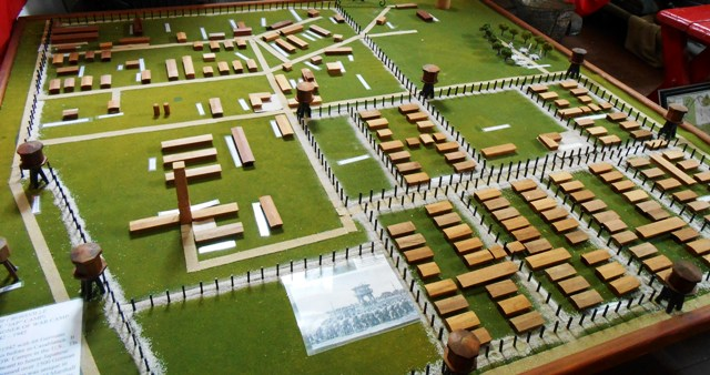 Here's a layout of the POW camp.