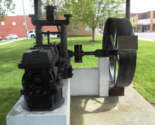 Cumberland County's first steam engine. Right across from the Military Museum.