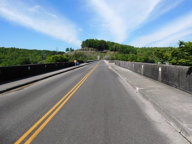 Road over Norris Dam.