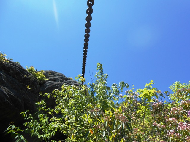 A closer view of the chain.