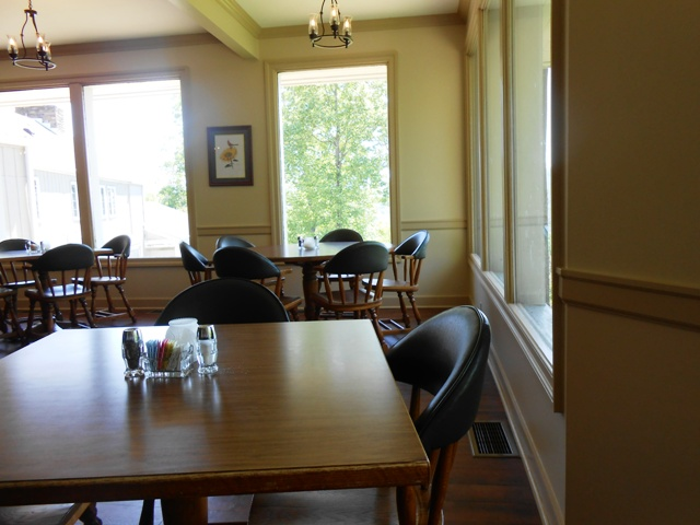 Inside the dining room.