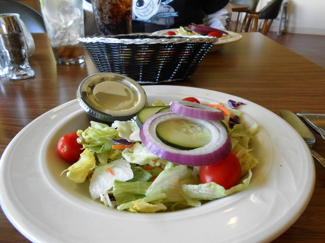 The salad is wonderfully fresh.