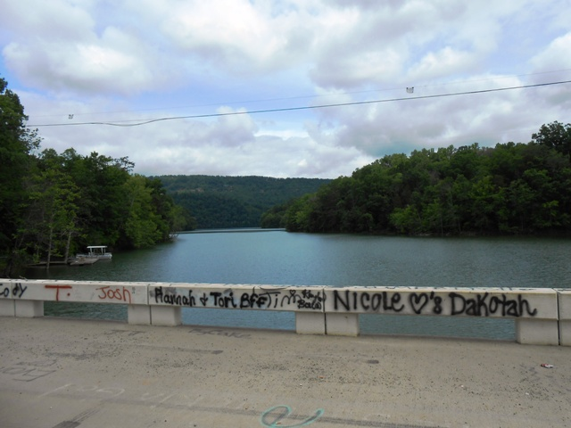 We stopped along a new bridge over Norris Lake.