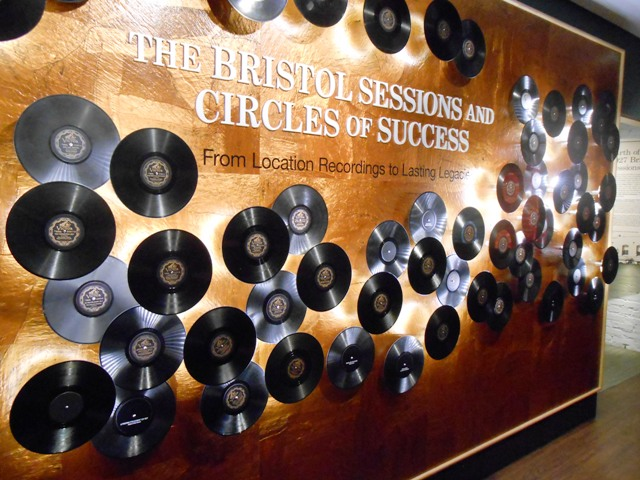 A wall commemorating the Bristol Sessions.