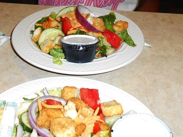 Yum! Fresh salads.