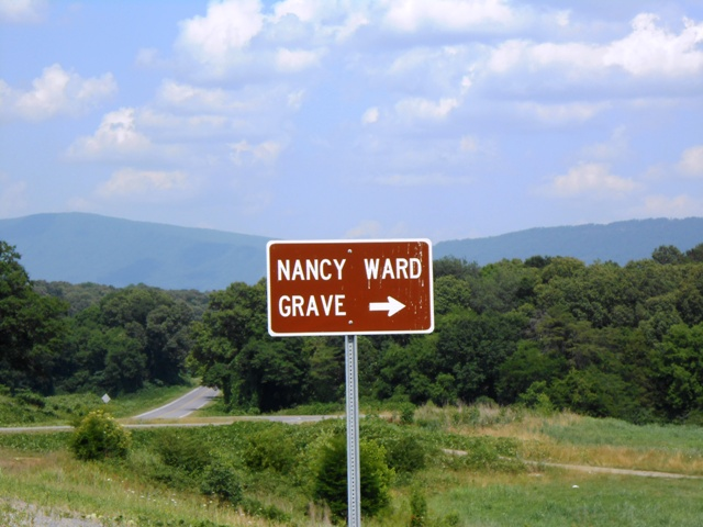The Nancy Ward Grave Site is along 411. We'll have to stop there some day.