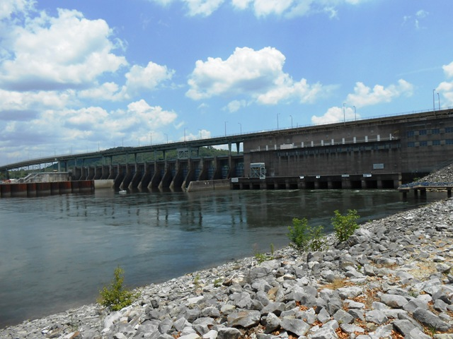 Another view of the Chickamauga Dam.